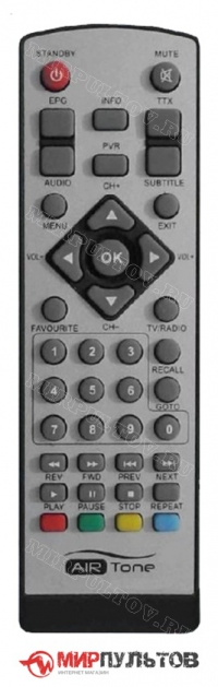 Пульт AIRTone DB-2205, DB-2206, DVBT-1807Y, DVBT-1808Y