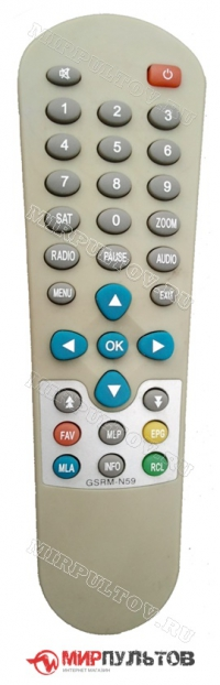 Пульт NEWSTAR GSR-9000S, GSRM-N59
