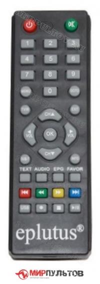 Пульт EPLUTUS DVB-127T, DVB-126T