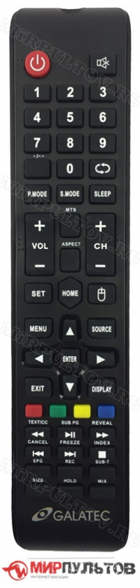 Пульт GALATEC TVS-S3205MC, TVS-S4305MC, TVS-S5505MC, TVS-4305MC, TVS-5005MC