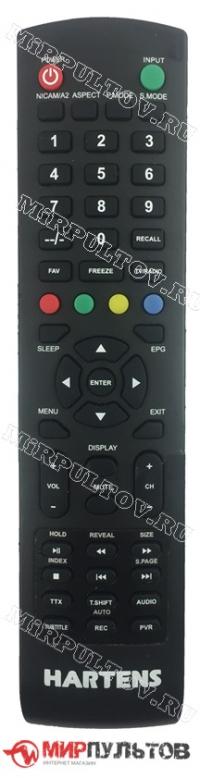 Пульт HARTENS HTV-43F011B-T2/PVR, HTV-32R011B-T2/PVR, HTV-24R011B-T2/PVR, HTV-22F011B-T2/PVR