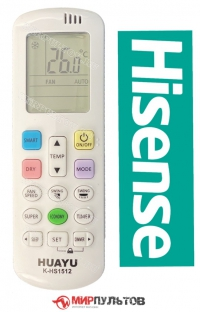 Пульт для кондиционера HISENSE универсальный K-HS1512