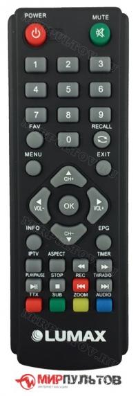 Пульт LUMAX DV1120HD, DV1111HD