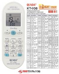 Пульт для кондиционера универсальный QUNDA KT-E08