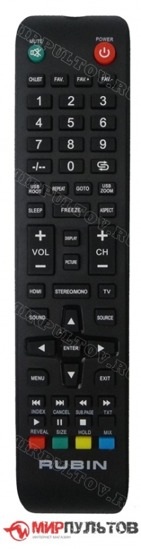 Пульт RUBIN RB-32D3U, WD13207 TV NEW