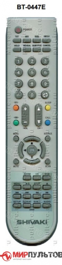 Пульт SHIVAKI BT-0447E, LCD2010, LCD1910