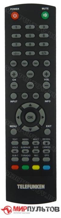 Пульт TELEFUNKEN TF-LED28S48T2, TF-LED40S48T2, TF-LED32S45T2 ORIGINAL